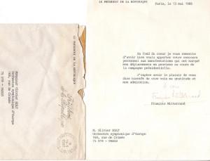 Lettre François Mitterrand Orchestre Symphonique d'Europe (Douce France, clip de campagne de François Mitterrand)