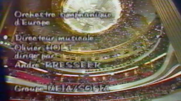 Extrait du générique de fin de l'émission prix du cinéma européen 1989