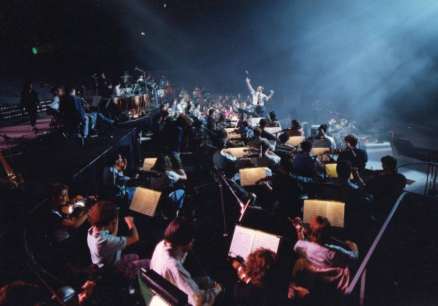 Orchestre Symphonique d'Europe en répétition à Bercy (collection Olivier Holt)