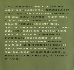 Crédits livret Johhny Hallyday dans la chaleur de Bercy (Johnny Hallyday dans la chaleur de Bercy)