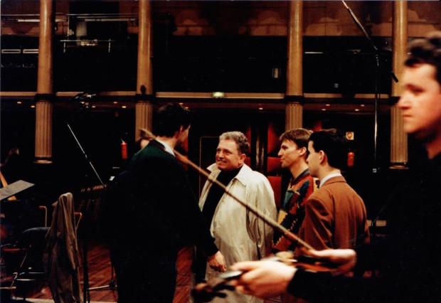 Jacques Martin à l'enregistrement Orchestre Symphonique d'Europe (collection Olivier Holt)