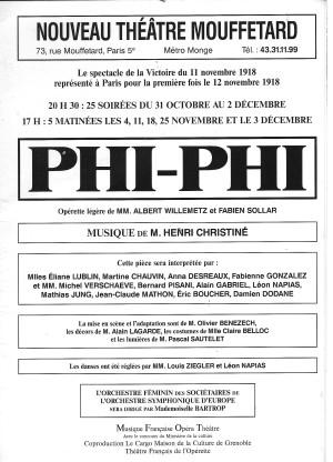 Affiche Phi Phi (Phi-Phi)