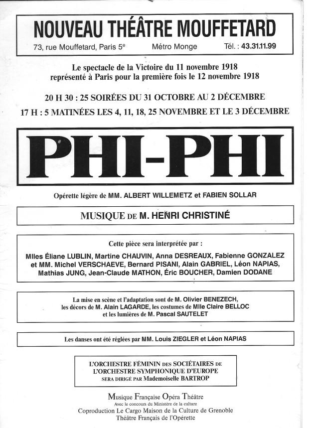 Affiche Phi Phi - Source Olivier Bénézech